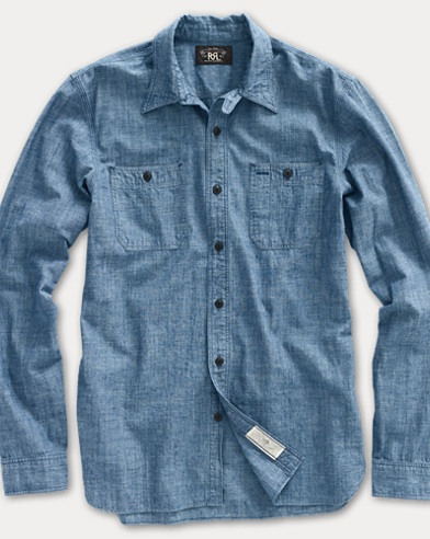 폴로 랄프로렌 Polo Ralph Lauren Cotton Chambray Workshirt,Rinse Wash
