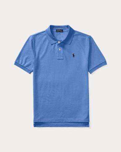 폴로 랄프로렌 보이즈 반팔 카라티 블루 Polo Ralph Lauren Cotton Mesh Polo Shirt,Blue