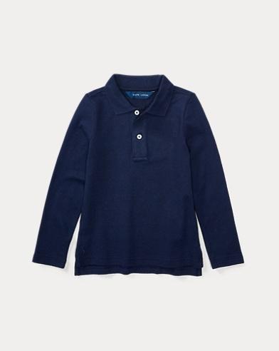 폴로 랄프로렌 여아용 긴팔 카라티 네이비 Polo Ralph Lauren Long Sleeve Uniform Polo
