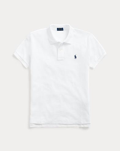 폴로 랄프로렌 우먼 클래식핏 폴로 셔츠 Polo Ralph Lauren Classic Fit Mesh Polo Shirt,White