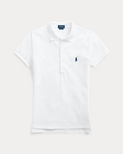 폴로 랄프로렌 Polo Ralph Lauren Slim Fit Stretch Polo Shirt,White