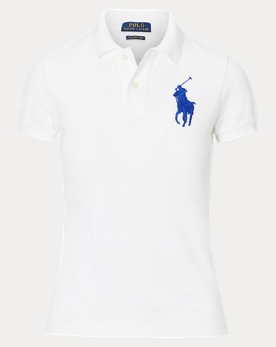 폴로 랄프로렌 Polo Ralph Lauren Skinny Fit Big Pony Polo Shirt,White