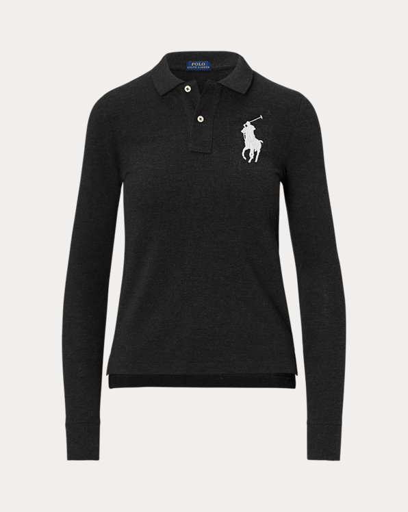 폴로 랄프로렌 우먼 폴로 셔츠 Polo Ralph Lauren Skinny Fit Big Pony Polo,Polo Black