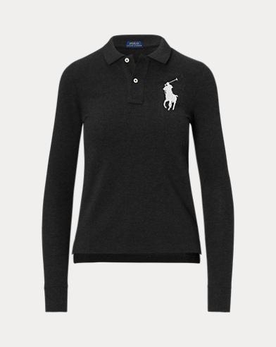 폴로 랄프로렌 우먼 스키니핏 포니 폴로 셔츠 Polo Ralph Lauren Skinny Fit Big Pony Polo,Polo Black