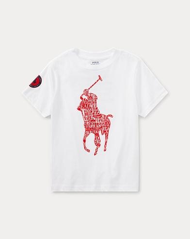 폴로 랄프로렌 남아용 반팔 티셔츠 화이트 Polo Ralph Lauren English Literacy Tee,White