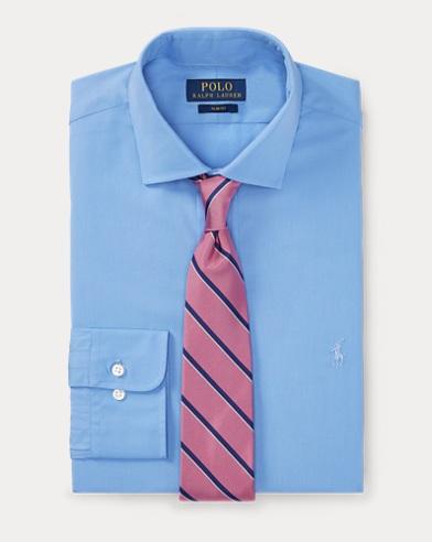 폴로 랄프로렌 Polo Ralph Lauren Slim Fit Poplin Shirt,Blue