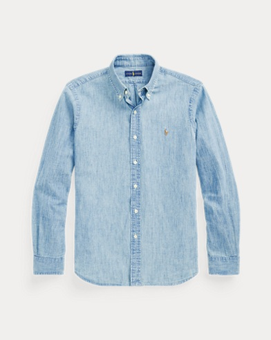 폴로 랄프로렌 Polo Ralph Lauren Classic Fit Chambray Shirt,Chambray