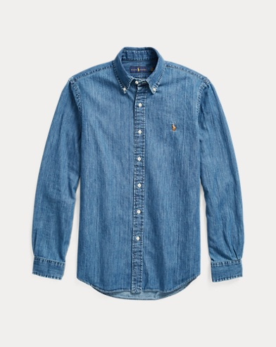 폴로 랄프로렌 Polo Ralph Lauren Classic Fit Denim Shirt,Denim
