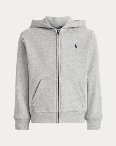 폴로 랄프로렌 남아용 짚업 후드티 그레이 Polo Ralph Lauren Cotton-Blend-Fleece Hoodie,Dark Spot Heather