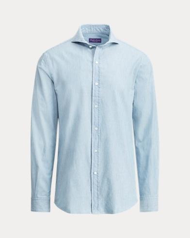 폴로 랄프로렌 Polo Ralph Lauren Keaton Tailored Chambray Shirt,Bermuda Wash