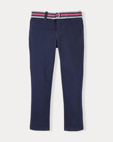 폴로 랄프로렌 여아용 바지 네이비 Polo Ralph Lauren Stretch Cotton Chino Pant,Newport Navy
