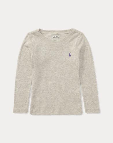 폴로 랄프로렌 여아용 긴팔 티셔츠 Polo Ralph Lauren Pony Long-Sleeved Tee,Light Sport Heather