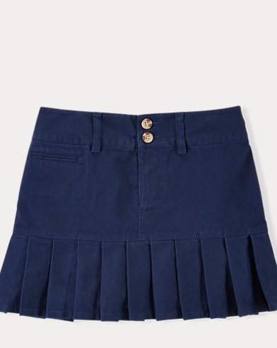 폴로 랄프로렌 걸즈 치노 스커트 네이비 Polo Ralph Lauren Stretch Cotton Chino Skirt,Newport Navy