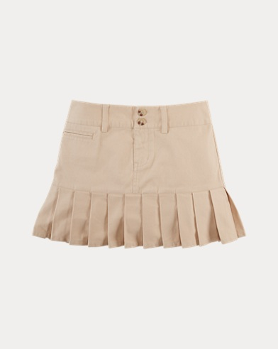 폴로 랄프로렌 걸즈 치노 스커트 카키 Polo Ralph Lauren Stretch Cotton Chino Skirt,Royal Khaki