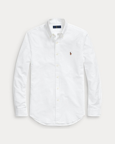 폴로 랄프로렌 Polo Ralph Lauren Slim Fit Stretch Oxford Shirt,White