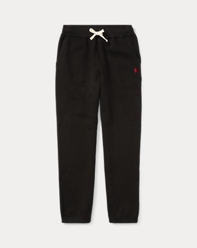 폴로 랄프로렌 보이즈 바지 Polo Ralph Lauren Cotton-Blend-Fleece Pant,Black