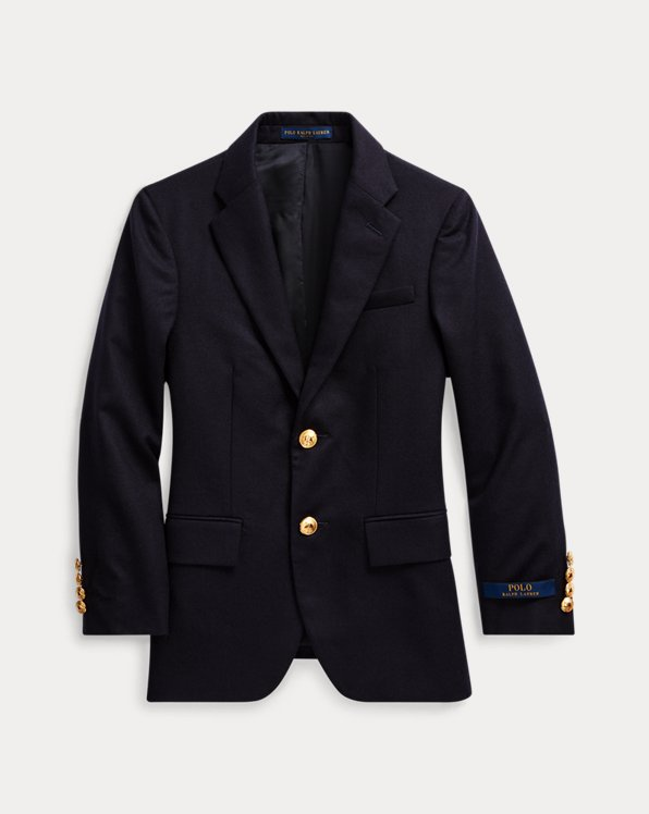 폴로 랄프로렌 보이즈 코트 Polo Ralph Lauren Wool Brass-Button Sport Coat,Navy