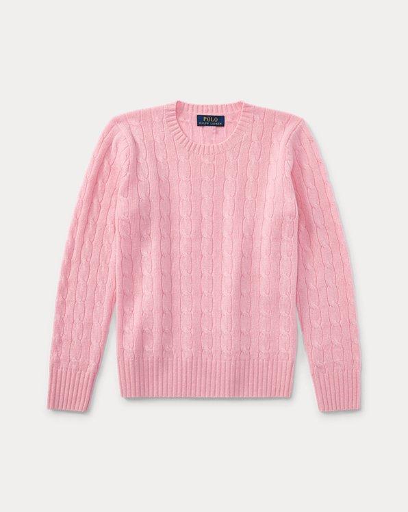 폴로 랄프로렌 보이즈 스웨터 Polo Ralph Lauren Cable-Knit Cashmere Sweater,카멜 Carmel Pink