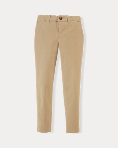 폴로 랄프로렌 여아용 바지 브라운 Polo Ralph Lauren Stretch Cotton Chino Pant,Brown