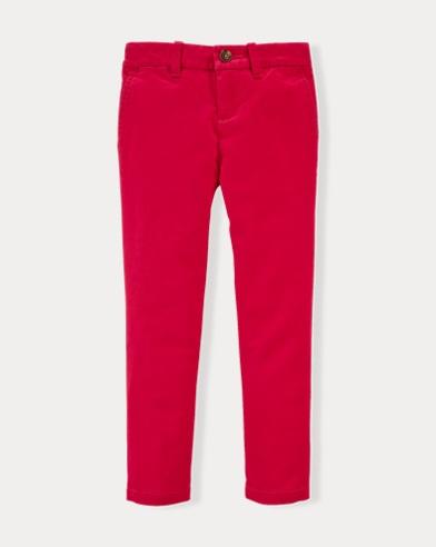 폴로 랄프로렌 여아용 바지 핑크 Polo Ralph Lauren Stretch Cotton Chino Pant,Pink