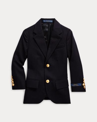 폴로 랄프로렌 남아용 울 블렌드 코트 네이비 Polo Ralph Lauren Wool Brass-Button Sport Coat