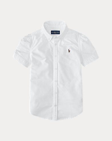 폴로 랄프로렌 여아용 옥스포드 셔츠 화이트 Polo Ralph Lauren Cotton Oxford Shirt,White