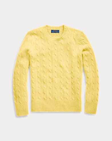 폴로 랄프로렌 보이즈 스웨터 Polo Ralph Lauren Cable-Knit Cashmere Sweater,Beekman Yellow