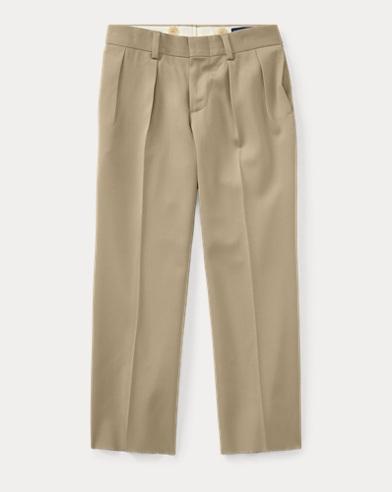 폴로 랄프로렌 남아용 울 바지 탄 Polo Ralph Lauren Wool Gabardine Trouser
