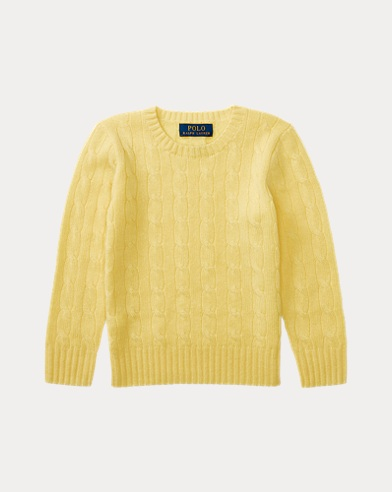 폴로 랄프로렌 남아용 꽈배기 스웨터 옐로우 Polo Ralph Lauren Cable-Knit Cashmere Sweater,Beekman Yellow