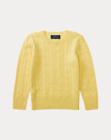 폴로 랄프로렌 남아용 꽈배기 캐시미어 스웨터 옐로우 Polo Ralph Lauren Cable-Knit Cashmere Sweater