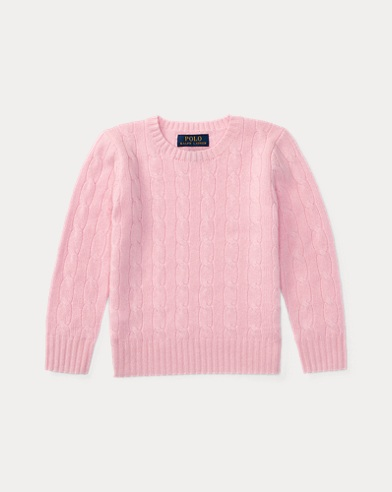폴로 랄프로렌 남아용 꽈배기 스웨터 핑크 Polo Ralph Lauren Cable-Knit Cashmere Sweater, Carmel Pink