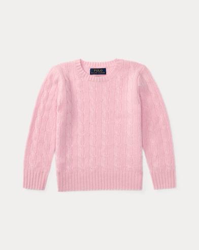 폴로 랄프로렌 남아용 꽈배기 캐시미어 스웨터 핑크 Polo Ralph Lauren Cable-Knit Cashmere Sweater, Carmel Pink