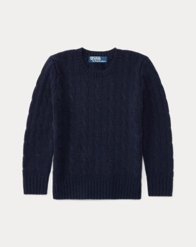 폴로 랄프로렌 남아용 꽈배기 캐시미어 스웨터 네이비 Polo Ralph Lauren Cable-Knit Cashmere Sweater