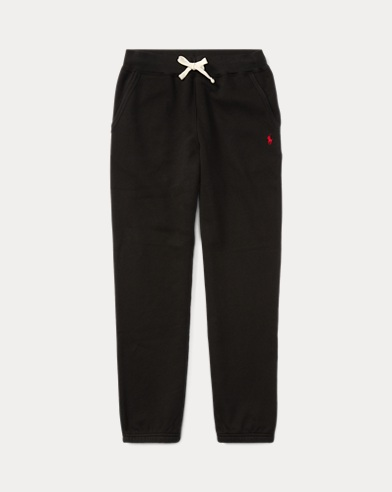 폴로 랄프로렌 남아용 바지 블랙 Polo Ralph Lauren Cotton-Blend-Fleece Pant,Black