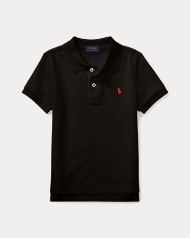 폴로 랄프로렌 남아용 반팔 카라티 블랙 Polo Ralph Lauren Cotton Mesh Polo Shirt