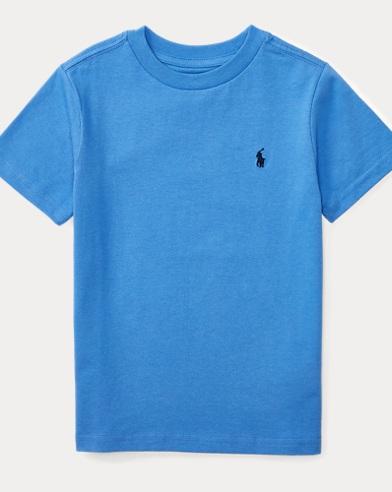 폴로 랄프로렌 남아용 반팔 티셔츠 블루 Polo Ralph Lauren Cotton Jersey Crewneck T-Shirt,Scottsdale Blue