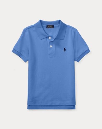 폴로 랄프로렌 남아용 반팔 카라티 블루 Polo Ralph Lauren Cotton Mesh Polo Shirt,Blue