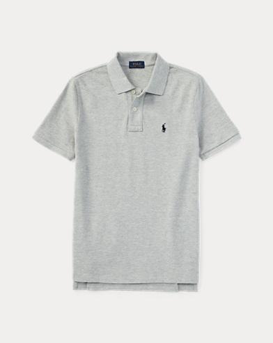 폴로 랄프로렌 남아용 반팔 카라티 라이트 그레이 Polo Ralph Lauren Cotton Mesh Polo Shirt,Light Gray
