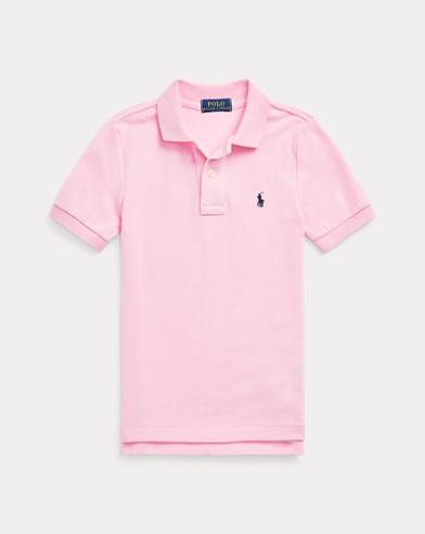 폴로 랄프로렌 남아용 반팔 카라티 핑크 Polo Ralph Lauren Cotton Mesh Polo Shirt,Pink