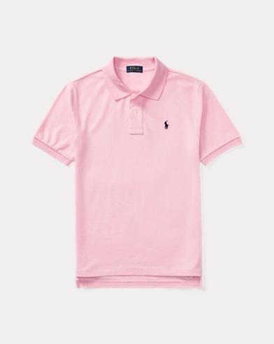 폴로 랄프로렌 보이즈 반팔 카라티 핑크 Polo Ralph Lauren Cotton Mesh Polo Shirt,Pink