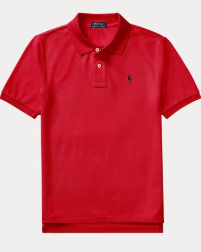 폴로 랄프로렌 보이즈 반팔 카라티 레드 Polo Ralph Lauren Cotton Mesh Polo Shirt,Red