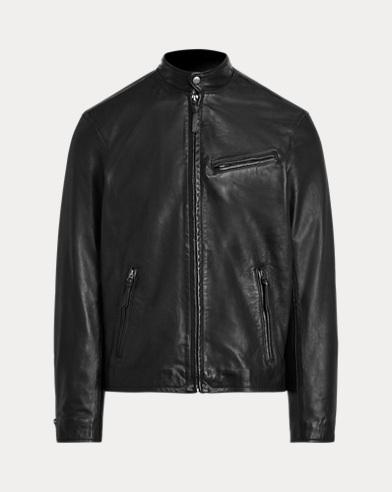 폴로 랄프로렌 카페 레이서(바이커) 램스킨 가죽 자켓 블랙 Polo Ralph Lauren Lambskin Cafe Racer Jacket,Polo Black