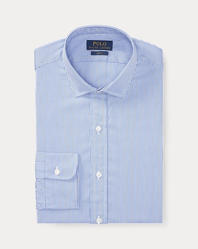 폴로 랄프로렌 Polo Ralph Lauren Slim Fit Striped Shirt,1077 Blue/White