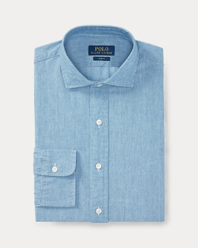 폴로 랄프로렌 슬림핏 셔츠 Polo Ralph Lauren Slim Fit Chambray Shirt,1067 French Blue