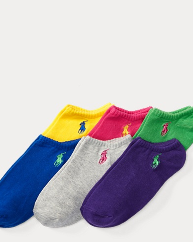 폴로 랄프로렌 Polo Ralph Lauren No-Show-Sock 6-Pack,Multi