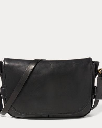 폴로 랄프로렌 메신저백 블랙 Polo Ralph Lauren Leather Messenger Bag,Black