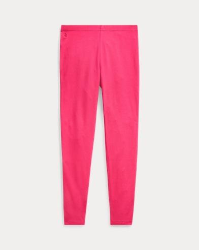 폴로 랄프로렌 Polo Ralph Lauren Bow-Back Jersey Legging,Sport Pink