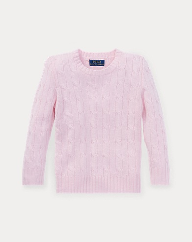 폴로 랄프로렌 남아용 꽈배기 스웨터 핑크 Polo Ralph Lauren Cable-Knit Cashmere Sweater,Morning Pink