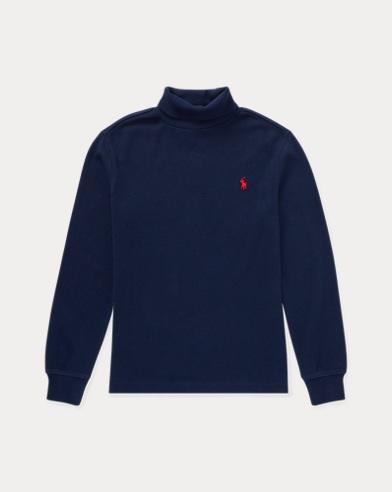 폴로 랄프로렌 남아용 터틀넥 스웨터 Polo Ralph Lauren Cotton Interlock Turtleneck,French Navy