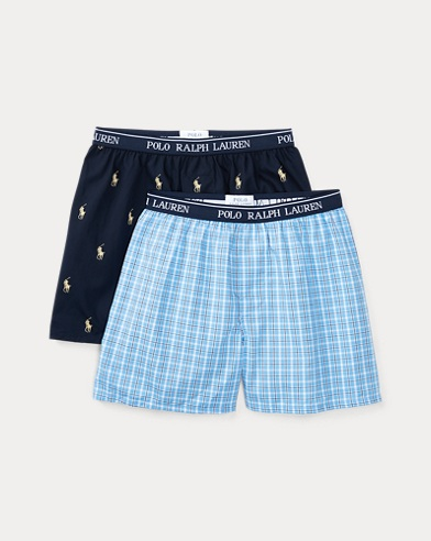 폴로 랄프로렌 보이즈  Polo Ralph Lauren Woven Boxer 2-Pack,Cannes/Cruise Navy